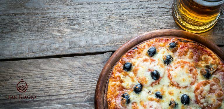 birra artigianale per pizza tonda