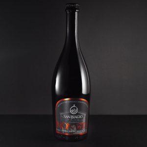 bottiglia di birra non filtrata monasta