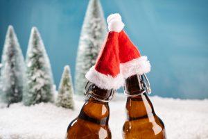 albero di natale con birra brindisi