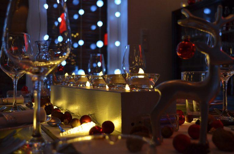 menu vigilia di natale bicchieri