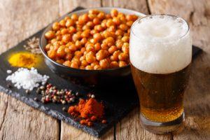 birra e cucina vegetariana ceci